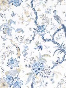 Wall Paper Emeline Oxford pattern 50064W01. Keywords describing this pattern are designer, Fabricut, Stroheim, floral, butterflies, birds.  Colors in this pattern are Medium Gray, Pink, White.  Product Details:  washable  Material is Non-Woven. Product Information:  Book name: Fabricut Color Portfolio Aquamarine Pattern name: Emeline Oxford Pattern #: 50064W01 Repeat Length: 25 1/4 inches.  Pattern Length: 13 1/2 inches.  Pattern Length: 27 0 inches.