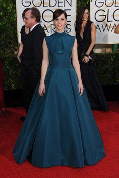 Felicity Jones in Christian Dior haute couture [Photo by Tyler Boye]