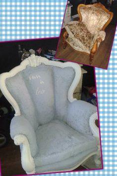 Dat je stoffen stoelen heel erg mooi kan verven met Annie Sloan krijtverf laten de foto's van Jessica maar weer eens zien geweldig !