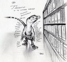 Thesaurus by RobtheDoodler on DeviantArt Dinosaur Drawing, Dinosaur Art, Dinosaur Funny, Jurassic Park World, Extinct Animals, Fanart, Prehistoric Creatures, Prehistory, Fantasy Art