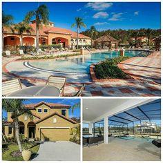 Community pool, Florida sun, holiday villas, inground pool, pool acreen, tile roof, vacation home, resorts, Kissimmee, Orlando, Florida, Bellavida, Park Square Homes