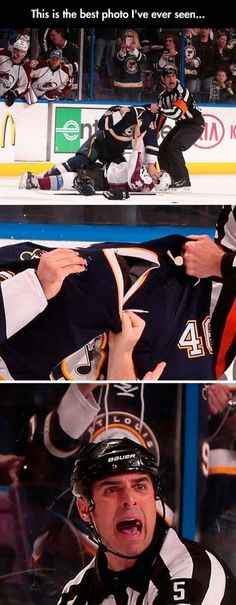 Hockey Fight: picture brought to you by evil milk funny pics. Image related to Hockey Fight Dump A Day, Funny Sports Pictures, Funny Photos, Hockey Pictures, School Pictures, Really Funny Memes, Funny Relatable Memes, Funny Stuff, Random Stuff