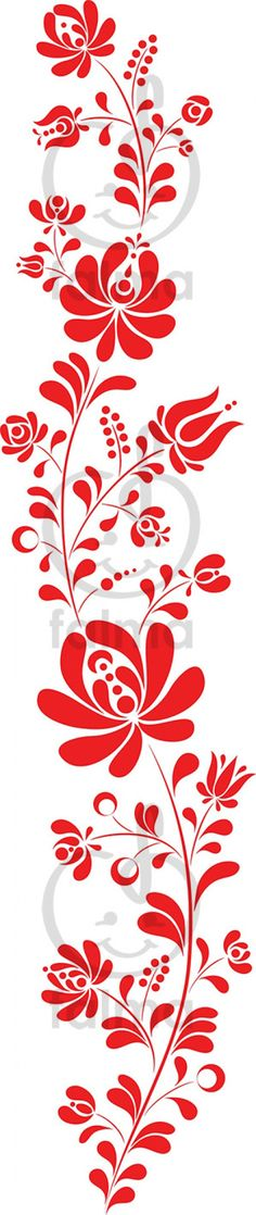 Piros kalocsai minta falmatrica Falma képzőművésztől