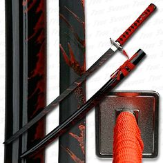 Blood Stained Katana Sword - Black Saya