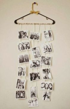 a cute DIY photo collage that my friend made for my birthday (: - DIY Deko