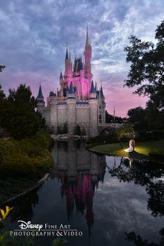 Shooting at the castle is always magical...and so amazingly beautiful! - Cricket: Disney Wedding Photographer #disneywedding #cinderellacastle #castleshoot