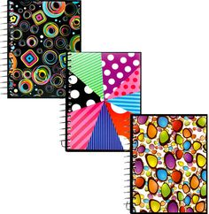 assorted design notebooks Case of 48