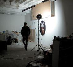 Mark Karasick in his studio