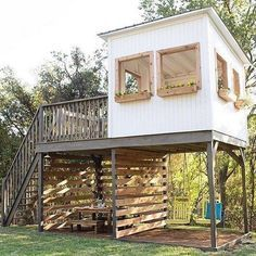 Backyard Swings, Backyard House, Backyard For Kids, Tire Swings, Backyard Barn, Harp Design Co, Backyard Storage Sheds, Backyard Sheds, Backyard Playhouse