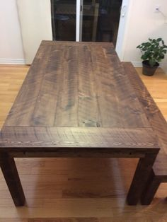 Rustic Dining Table with Matching Bench Bench, Dining Table, Rustic, Furniture, Home Decor, Homemade Home Decor, Diner Table, Dinning Table Set, Benches