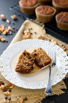 Paleo Banana Nut Chocolate Muffins