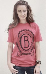 Barnabas Clothing Co. Emblem Tee in Vintage Red.  Available at www.BarnabasClothing.com