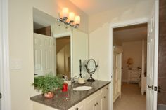 Recently Upgraded En-suite 4Pc #Bathroom, with designer fixtures & granite counter top. http://www.5CountryClub.GeraldLawrence.com #InventoryHome by #ColdwellBanker #GeraldLawrence