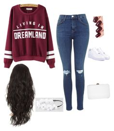 """""""Grab a coffee?"""" by hous15 ❤ liked on Polyvore featuring NIKE, Full Tilt and Rocio"""
