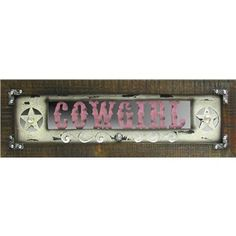 Pink Cowgirl Wood Wall Plaque | Shop Hobby Lobby