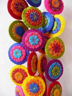 Two colorful garlands | Handmade felt garlands. www.etsy.com… | Flickr