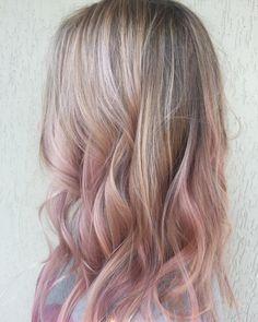 Pink pastels ombre hairstyle @agareginalatka