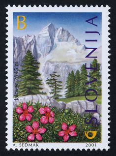 Slovenia 448 MNH MT Jalovec Triglav Flowers | eBay