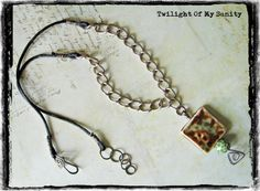 Necklace with brown and green pendant from Twilight of My Sanity jewelry by DaWanda.com