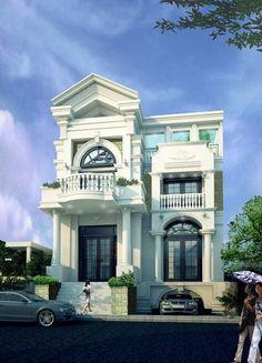 Biệt thự 2 tầng 144m2 sang trọng là thiết kế mang tầm vĩ mô rất hợp với khuynh hướng mặt tiền đẹp làm cho mẫu biệt thự 2 tầng thật sự nổi bật.