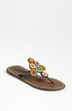 Add a pop of color to your #sandals. #Nordstrom #Shoes
