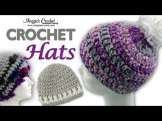 DIY Learn How to Crochet Easy Beginner Crocheted Hat Beanie for Babies Children Adult Tutorial - YouTube