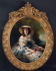 FRANZ XAVIER WINTERHALTER Portrait of Empress Eugénie, 1857 Oil on Canvas