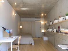(エリア:新宿・豊島・文京 TPOスタッフより)<br />タカギプランニングオフィスはデザイナーズマンション、オフィスを中心に、建築家と協働で賃貸集合住宅の企画・募集・管理を行っています。レイアウトの自由度が高い広めのワンルーム、SOHO対応可能物件等、間取りを多数揃えています。 Small Apartment Design, Small Apartments, Tiny Loft, Interior Decorating, Interior Design, Cabins And Cottages, Fashion Room, House Rooms, Modern Bedroom