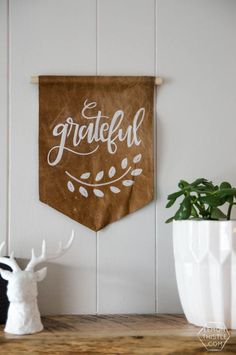 DIY Leather Pennant-
