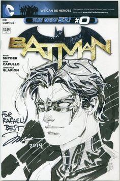 Nightwing sketch cover - Jim Lee