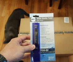Nice got my #waterquality tester today  time to install my #waterfilter and stop sucking on #flouride  #tdsmeter
