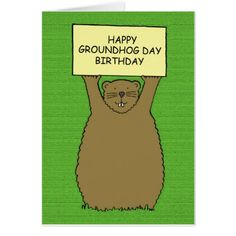 Happy groundhog day card groundhog day birthday card m4hsunfo