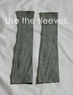 Neat! How To Make Leg Warmers or Boot Socks #DIY