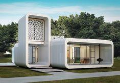 A Frame House Plans, Best House Plans, Social Housing Architecture, Modern Architecture, Unique Buildings, Amazing Buildings, Container Design, Small House Design, Modern House Design