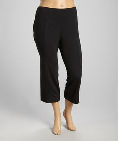 Another great find on #zulily! Black Capri Pants - Plus by OneWorld Apparel #zulilyfinds