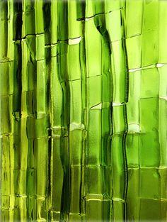 Panel de vidrio reciclado fundido