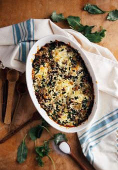 Baked Eggs with Sausage and Kale | Good Life Eats