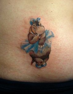3e3180f3d I'm going to get something like this for my aunt because she loves hippos · Hippo  TattooElephant TattoosCute ...