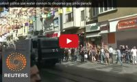 Turkish police use water cannon to disperse gay pride parade We've had our own Gay Pride Parade yesterday in Toronto and all went well even though the weather wasn't as forthcoming. Unfortunately, we can't say the same for the parade in Turkey...