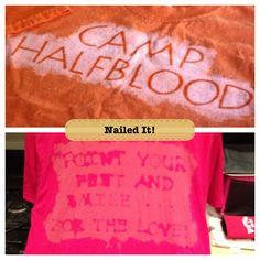 DIY bleached shirt.... Nailed it! Bahahaha!