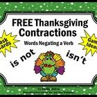 FREE Thanksgiving Activities: Free Thanksgiving Activities with Contraction Words Negating a Verb - Your students are going to love these printable...