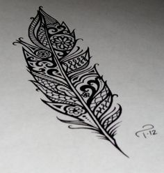 mochacafe: via ohsopictures  awesome feather, would make a cute tattoo