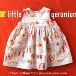 Free! Little Geranium Dress Pattern