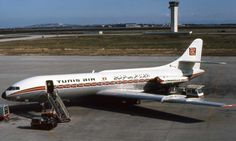 Tunis Air Caravelle Sud Aviation, Civil Aviation, Vintage Air, Commercial Aircraft, Aircraft Design, Concorde, Air Travel, Public Transport, Transportation