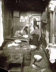 Lewis W. Hine, American (1874-1940).  Poor home. New York City tenement   (New York City Slums & Slum Life) series,  1910
