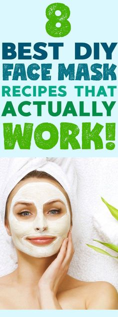 Best DIY Face Masks – 8 Recipes That Actually Work! #diybeauty #facemasks #beauty #AntiAgingMask Masque Facial Diy, Diy Masque, Facial Masks, Face Facial, Facial Scrubs, Facial Cleanser, Beauty Tips For Face, Diy Beauty, Beauty Hacks