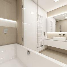 Cozy bathroom in neutral tones Cozy Bathroom, Modern Bathroom, O Design, Interior Design, Neutral Tones, Bathroom Inspiration, Studios, Tiles, Bathtub