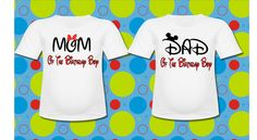 Family Two Pack Minnie Mouse and Mickey Mouse T shirt Mom Dad
