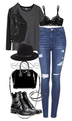 """outfit for college"" by im-emma ❤ liked on Polyvore featuring moda, Topshop, La Perla, R13, ASOS, Acne Studios, MICHAEL Michael Kors, rag & bone, Givenchy y Links of London"