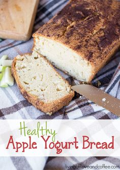 Healthy Apple Yogurt bread recipe. Perfect dish for breakfast or brunch even a little snack.